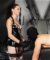This Slave gets fucked by 2 sexy Ladies. Mistress Susi & Mistress Courtney