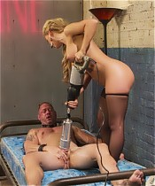 Cherie Deville pegs, flogs, canes, and mind fucks D. Arclyte in this series debut.